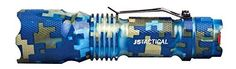 Flashlight LED J5 Tactical V1-Pro 300 Lumen Ultra Bright,Mini 3 Modes-Blue Aqua #J5Tactical