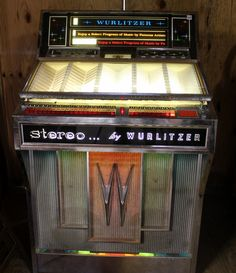 JukeBox, Wurlitzer, 1964, vintage stero record player. $700.00, via Etsy.
