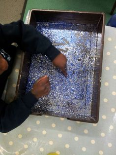 Glitter writing- we did this as part of our space topic and they loved it! :)