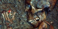 "The skeleton called the ""Ring Lady"" unearthed from the ruins of Herculaneum in 1982."