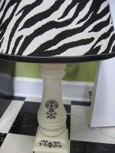 fantastic tut on covering an old cheapo lampshade Covering a Lampshade - Southern Hospitality | Southern Hospitality