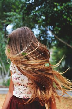 With the wind in my #hair, spring in my step - www.fashionara.com