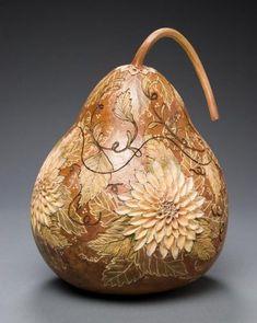 Gourd Carving # Art on Pinterest