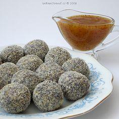jahelno-makove-kulicky Czech Recipes, Vegan Treats, Ham, Dog Food Recipes, Muffin, Sweets, Biscuits, Paleo, Baking