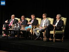 Brave new world: discussing blockchain technology and cybersecurity, from the left, Chris Maiato, Geoffrey King, Stafford Lowe, Christopher Burniske, and Mike Majors (Photograph by Scott Neil)