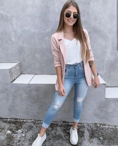 Blazer Look - Blazer Look, Source by - Casual Work Outfits, Mode Outfits, Work Casual, Outfits For Teens, Chic Outfits, Casual Looks, Spring Outfits, Fashion Outfits, Womens Fashion