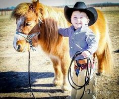 boy and his mini horse