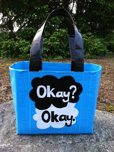 Okay  Okay.  Duct Tape Tote Purse by AnglesAndDangles on Etsy, $30.00
