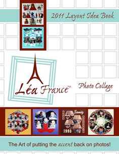 This is the first idea book for Lea France stencils.  Lea France Layout Idea Book for paper scrapbooking ideas.