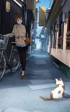Alleyway [Original] Kawaii, Anime, Art Girl, Cartoon Movies, Anime Shows, Anime Music