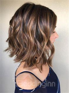 Long Bob Hairstyles, Wig Hairstyles, Bob Haircuts, Pretty Hairstyles, Summer Hairstyles, Short Wavy Haircuts, Wedding Hairstyles, Messy Hairstyle, Style Hairstyle