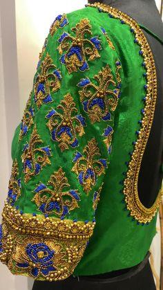 Cutwork Blouse Designs, Kids Blouse Designs, Hand Work Blouse Design, Simple Blouse Designs, Stylish Blouse Design, Bridal Blouse Designs, Long Dress Design, Blouses, Green Blouse