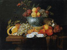 Joris van Son, FRÜCHTESTILLEBEN MIT WAN-LI-SCHALE UND AUSTERN AUF EINEM TELLER., Auktion 889 Alte Kunst, Lot 1162