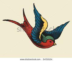 Traditional Swallow Bird Tattoo Like