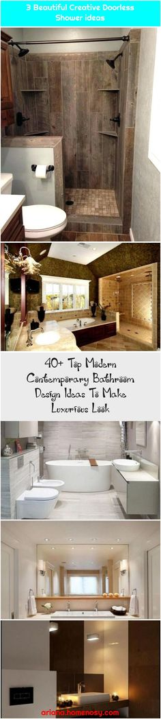 Top Modern Contemporary Bathroom Design Ideas To Make Luxurious Look Top Modern Contemporary Bathroom Design Ideas To… , Modern Contemporary Bathrooms, Rain Shower, Design Ideas, Luxury, Creative, Top, Beautiful, Rain, Crop Shirt