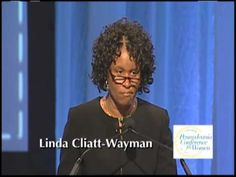 """""""Because you exist in this world, anything is possible for a child. So please take your role seriously.""""  Linda Cliatt-Wayman, the principal of Strawberry Mansion High School in Philadelphia, Pennsylvania, addresses a sold-out crowd of 7,000 in her keynote speech at the Nov. 1 Pennsylvania Conference for Women."""