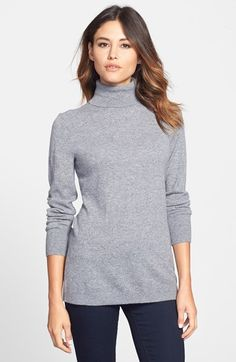 Nordstrom Collection Long Cashmere Turtleneck Sweater available at #Nordstrom