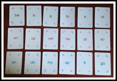 Start with two letter word Magic Memory to help children rapidly master the most frequently used words in reading.