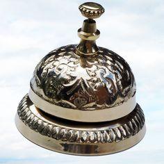 Victorian Hotel Desk Counter Bell Solid Brass Antique   eBay