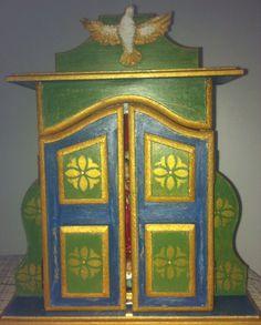 Oratório estilo barroco - Nossa Senhora de Guadalupe.