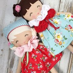 Rag dolls -- Click above VISIT link for more info Doll Crafts, Diy Doll, Doll Clothes Patterns, Doll Patterns, Muñeca Diy, Dolls And Daydreams, Softies, Fabric Toys, Paper Toys