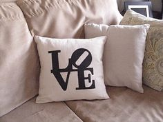 clever home-made pillow design...