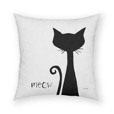Sophisticated Meow Throw Pillow