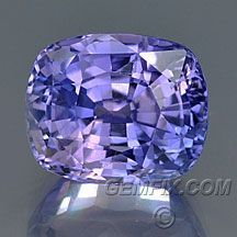 violet blue cushion unheated sapphire from Gemfix