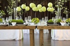 Love the hanging centerpiece Wedding With Kids, Gifts For Wedding Party, Green Wedding, Wedding Colors, Wedding Ideas, Spring Wedding, Wedding Decor, Reception Decorations, Event Decor