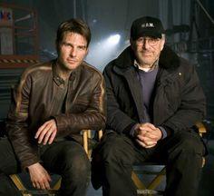 """Tom Cruise y Steven Spielberg en """"La Guerra de los Mundos"""", 2005"""