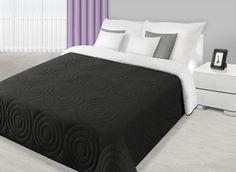 Přehoz na postel černo bílé barvy s kruhovým prošíváním Bed, Furniture, Blankets, Home Decor, Home, Homemade Home Decor, Stream Bed, Home Furnishings, Blanket