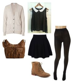 April Ludgate inspired outfit by jeanettefailano on Polyvore featuring polyvore, fashion, style, Forever 21, Closed, Wolford, Theory, Sperry Top-Sider, Mix No. 6, women's clothing, women's fashion, women, female, woman, misses, juniors, april, parksandrec, aprilludgate and parksnrec