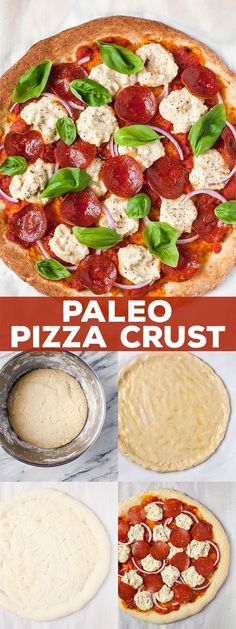 Paleo - This paleo pizza crust tastes just like the real thing, but is made without gluten, grains, or dairy. It's the perfect primal canvas for all your favorite toppings! It's The Best Selling Book For Getting Started With Paleo Pizza Paleo, Paleo Snack, Pizza Sans Gluten, Paleo Menu, Paleo Bread, Paleo Dinner, Paleo Breakfast, Paleo Food, Dairy Free Pizza