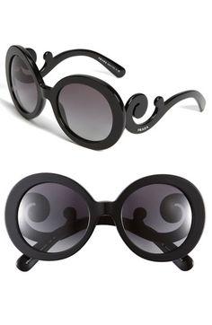 Prada 'Baroque' Round Sunglasses | Nordstrom - StyleSays