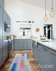 Get inspiration for your next kitchen renovation with these standout kitchen design ideas, from modern kitchens to country kitchens and more. | Photographer: Kim Jeffrey | Designer: Virginie Martocq