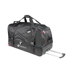 30 in. Rolling Duffel TSC sku : 16789 This rolling duffel is great for any traveler. Features include a spilt level storage compartment, retractable trolley handle, corner mount wheels, and a water resistant bottom!    As low as $106.95