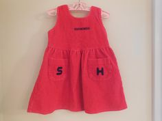Size 3T Vintage Toddler Girl  Red Thick Corduroy by LittleMarin