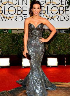 Kate Beckinsale in Zuhair Murad at the 2014 Golden Globes