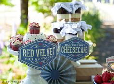 Desserts at a Vintage 4th of July Party #4thofjuly #partydesserts