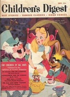 """1951 Children's Digest, featuring Disney's """"Alice in Wonderland."""""""