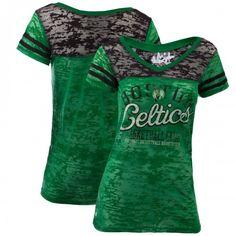 G-III Celtics Womens Touch The Football V-Neck Burnout T-Shirt #celtics