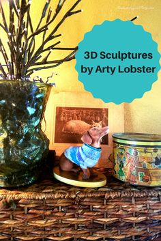 3D Pet Sculptures by Arty Lobster  Click through to read all about them!   Get a 3D printed statue of your pet.  Dog, cat, horse, hamster, bird, any pet!   Beautiful sculptures! I love mine!