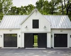 Inspiring Detached Garage Ideas for Your Home. Design of a side car garage home - Having a special space to store a vehicle is indeed desired by every homeowner. Garage Transformation, Garage Shed, Garage Doors, Detached Garage Plans, Garage Workshop, Detached Garage Designs, Garage Storage, 2 Car Garage Plans, Pole Barn Garage