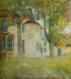 Emil Carlsen Landscape with House, c.1925 Learn about artist Emil Carlsen at http://emilcarlsen.org