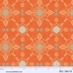 1YD Rustic GATHERINGS LACE MEDALLIONS Orange Thanksgiving Autumn Newcastle #NewcastleFabrics