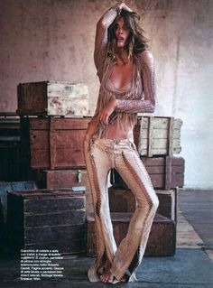 Elisa Sednaoui Blends Hippie and Yuppie Styles for D la Repubblica #photoshoots #fashion trendhunter.com