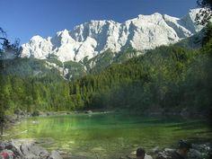 Zugspitze vom Eibsee aus