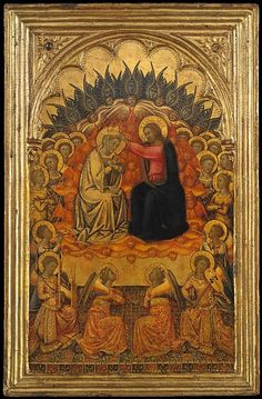 Niccolò di Buonaccorso, The Coronation of the Virgin, 1380, tempera and gold on wood (via The Metropolitan Museum of Art)
