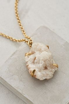 Druzy Dreamworld Pendant Necklace anthropologie.com #anthroregistry
