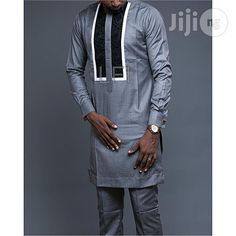 Royal Traditional Native Wear in Ikeja - Clothing, Royal Stitches Fashion Designers African Attire For Men, African Men, Nigerian Men Fashion, Mens Fashion, Renaissance Shirt, Native Wears, Royal Clothing, Cashmere Fabric, African Shirts